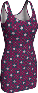 The Evangeline Fitted Dress in Raspberry