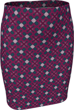 Load image into Gallery viewer, The Evangeline Fitted Skirt in Raspberry
