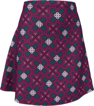 Load image into Gallery viewer, The Evangeline Flare Skirt in Raspberry