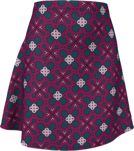 The Evangeline Flare Skirt in Raspberry