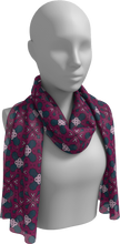 Load image into Gallery viewer, The Evangeline Long Scarf in Raspberry