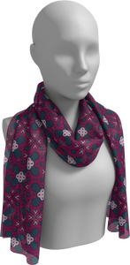 The Evangeline Long Scarf in Raspberry