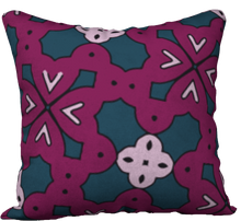Load image into Gallery viewer, The Evangeline Reversible Pillow in Raspberry
