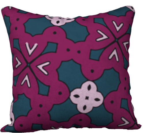 The Evangeline Reversible Pillow in Raspberry-18