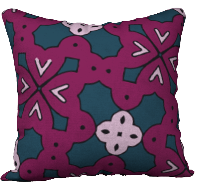 The Evangeline Reversible Pillow in Raspberry