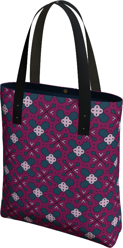 The Evangeline Tote Bag in Raspberry
