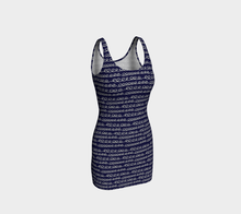 Load image into Gallery viewer, The Evelyn Fitted Dress-Clash Patterns