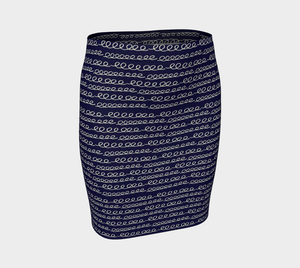 The Evelyn Fitted Skirt-Clash Patterns
