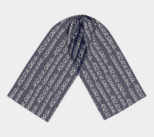 Load image into Gallery viewer, The Evelyn Long Scarf in Navy-Clash Patterns