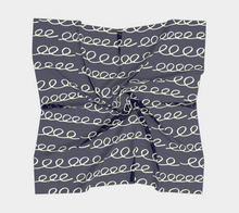Load image into Gallery viewer, The Evelyn Square Scarf in Navy
