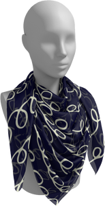 The Evelyn Square Scarf in Navy