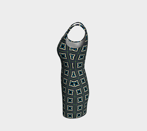 The Gia Fitted Dress-Clash Patterns