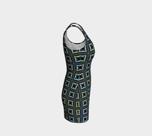 Load image into Gallery viewer, The Gia Fitted Dress-Clash Patterns