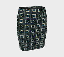 Load image into Gallery viewer, The Gia Fitted Skirt-Clash Patterns