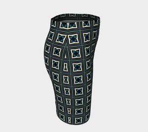 The Gia Fitted Skirt-Clash Patterns