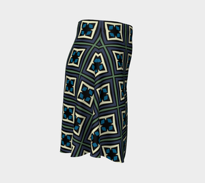 The Gia Flare Skirt-Clash Patterns