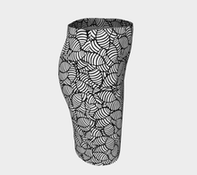 Load image into Gallery viewer, The Gnocchi Fitted Skirt in Black and White-Clash Patterns