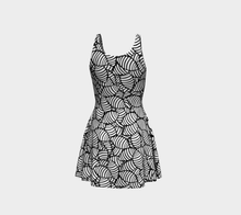 Load image into Gallery viewer, The Gnocchi Flare Dress in Black and White-Clash Patterns