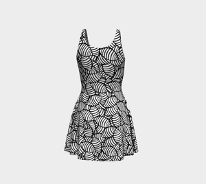 The Gnocchi Flare Dress in Black and White-Clash Patterns