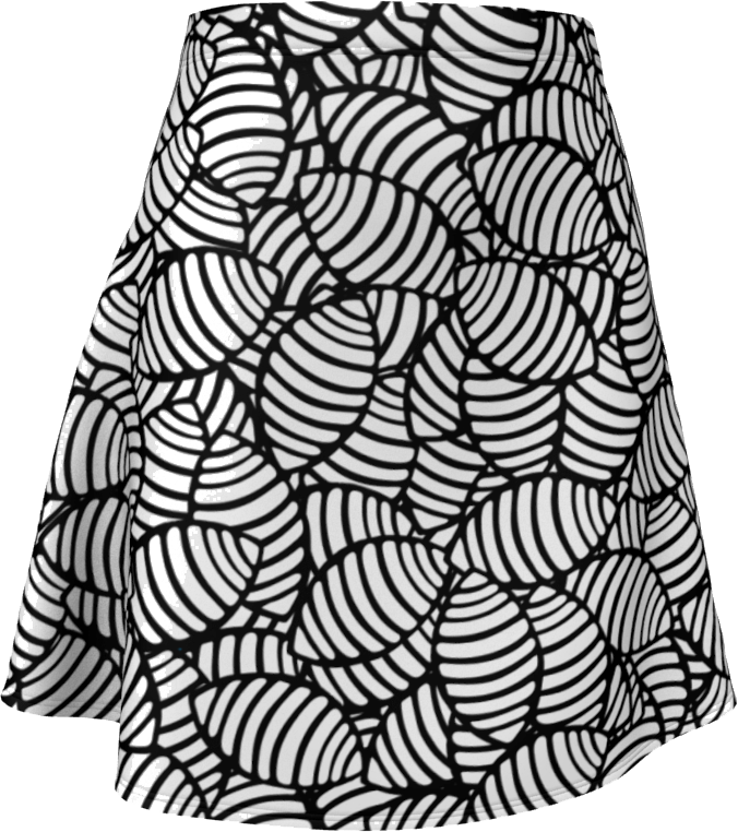 The Gnocchi Flare Skirt in Black and White