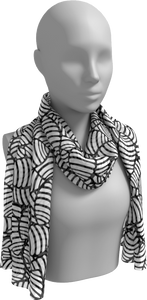 The Gnocchi Long Scarf in Black and White