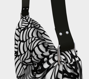 The Gnocchi Origami Bag in Black and White-Clash Patterns