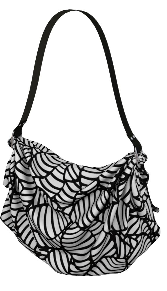The Gnocchi Origami Bag in Black and White