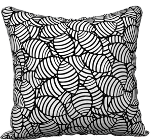 "The Gnocchi Pillow in Black and White-18"" x 18"" Pillow Case-Clash Patterns by Jennifer Akkermans"