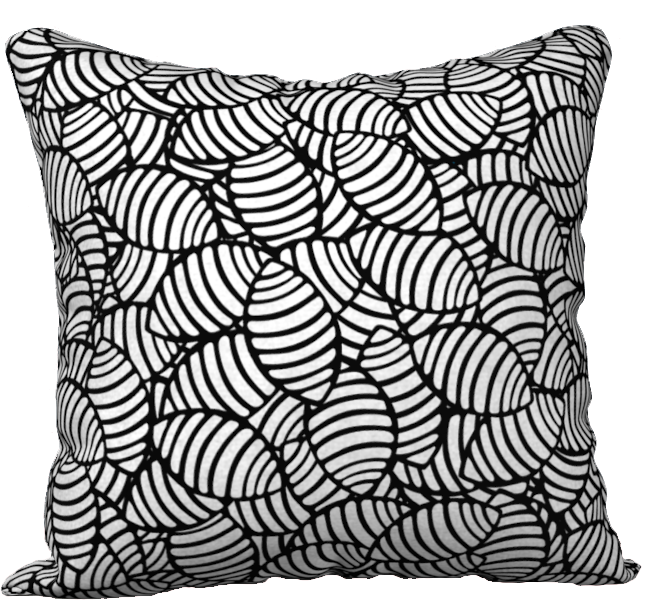 The Gnocchi Pillow in Black and White-18