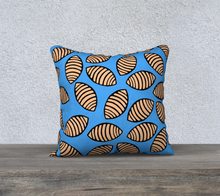 Load image into Gallery viewer, The Gnocchi Pillow in Blue-Clash Patterns