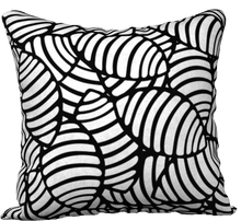"Load image into Gallery viewer, The Gnocchi Reversible Pillow in Black and White-18"" x 18"" Pillow Case-Clash Patterns by Jennifer Akkermans"