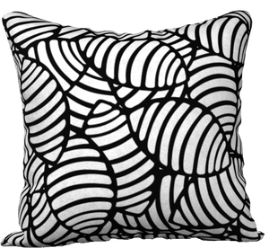 "The Gnocchi Reversible Pillow in Black and White-18"" x 18"" Pillow Case-Clash Patterns by Jennifer Akkermans"