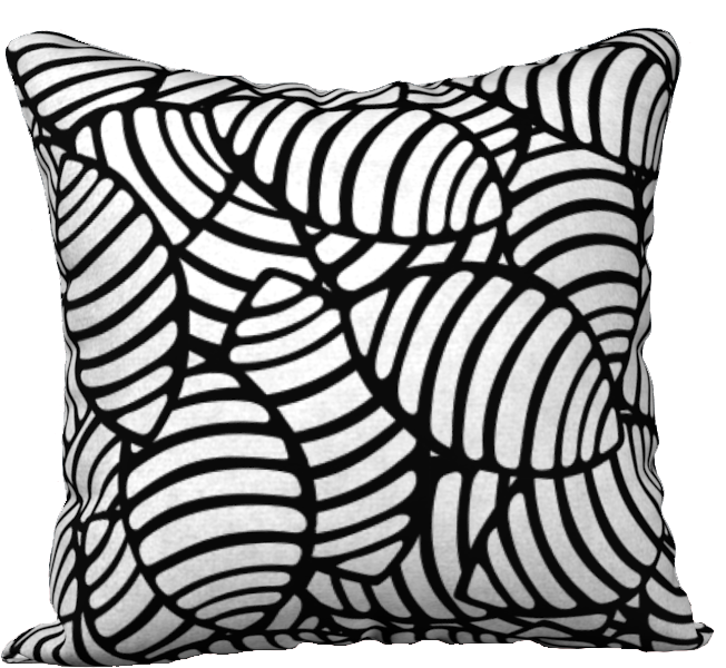 The Gnocchi Reversible Pillow in Black and White-18