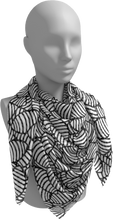 Load image into Gallery viewer, The Gnocchi Square Scarf in Black and White-Square Scarf-Clash Patterns by Jennifer Akkermans