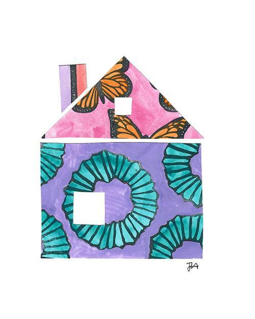 The House Print-at-Home Art Print - Digital Download (19007)-Clash Patterns