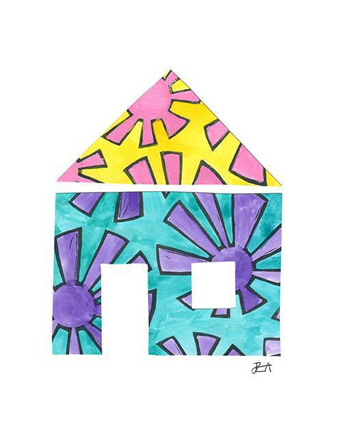 The House Print-at-Home Art Print - Digital Download (19021)-Clash Patterns