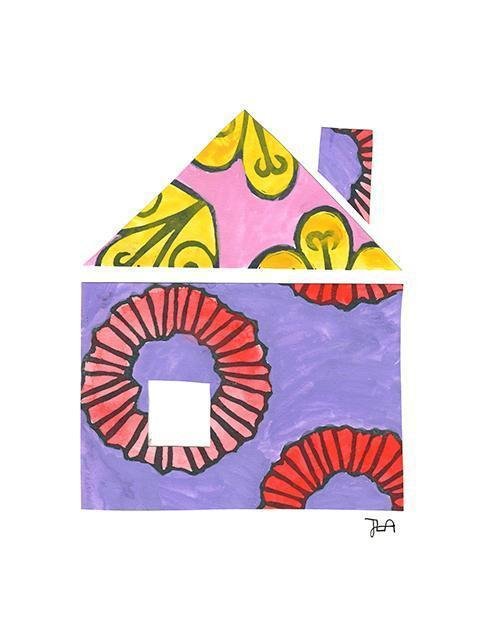 The House Print-at-Home Art Print - Digital Download (19025)-Clash Patterns