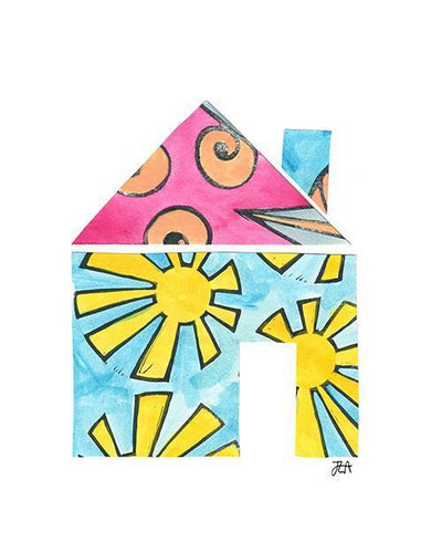 The House Print-at-Home Art Print - Digital Download (19046)-Clash Patterns