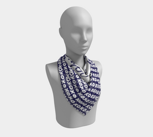 The I Love You Square Scarf in Navy