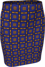 Load image into Gallery viewer, The Jacqueline Fitted Skirt in Navy and Ochre
