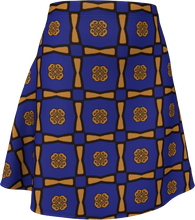 Load image into Gallery viewer, The Jacqueline Flare Skirt in Navy and Ochre