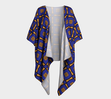 Load image into Gallery viewer, The Jacqueline Kimono in Navy and Ochre-Clash Patterns