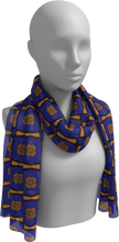 Load image into Gallery viewer, The Jacqueline Long Scarf in Navy and Ochre