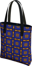 Load image into Gallery viewer, The Jacqueline Tote Bag in Navy and Ochre