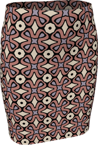 The Jane Fitted Skirt in Tuscany-Fitted Skirt-Clash Patterns by Jennifer Akkermans