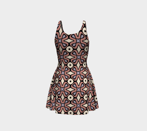 The Jane Flare Dress in Tuscany-Clash Patterns