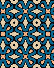 Load image into Gallery viewer, The Jane Print-at-Home Art Print in Blue and Beige - Digital Download-Clash Patterns