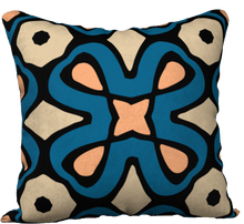 Load image into Gallery viewer, The Jane Reversible Pillow in Blue and Beige