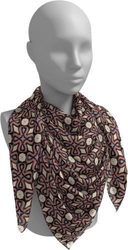 The Jane Square Scarf in Tuscany-Square Scarf-Clash Patterns by Jennifer Akkermans