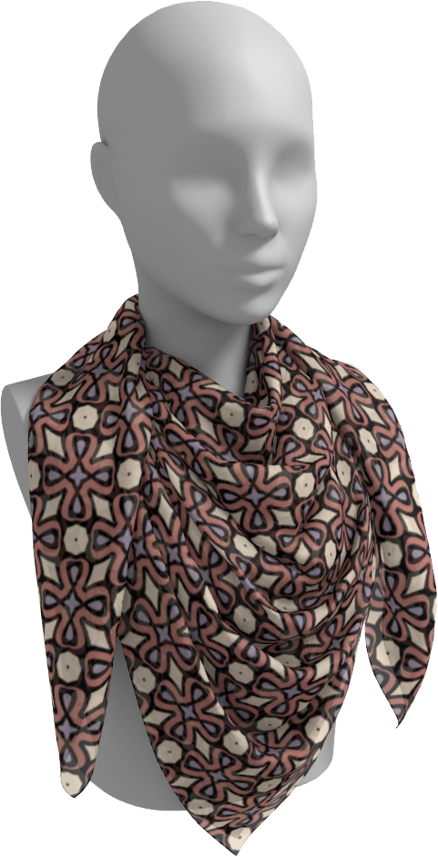 The Jane Square Scarf in Tuscany